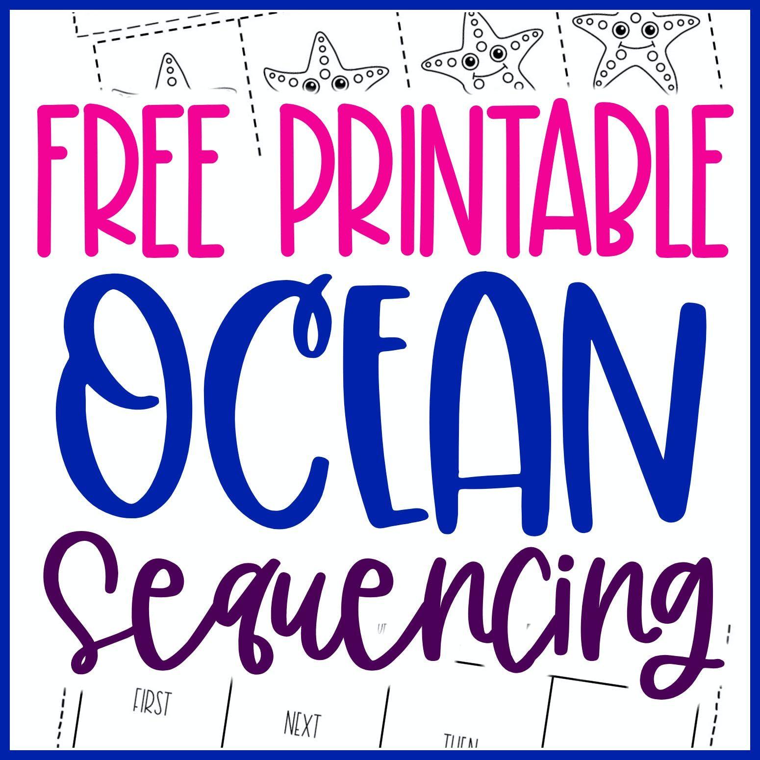 Free Printable Ocean Kindergarten Sequencing Worksheets In