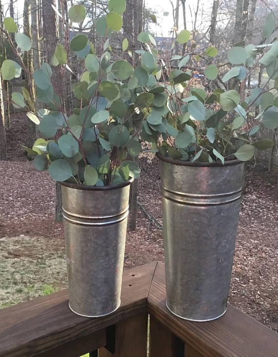 Galvanized Containers Galvanized Flower Vase Tin Vase Tall