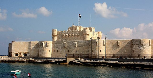 Mamluk fortress of Qait or Fort Qaitbey.