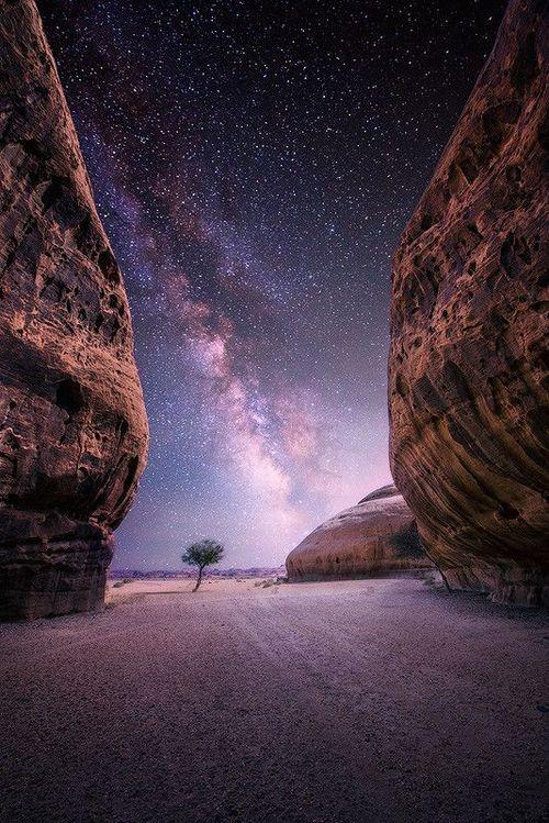 Desert Night Al Ula Saudi Arabia Beautiful Nature Landscape Sky