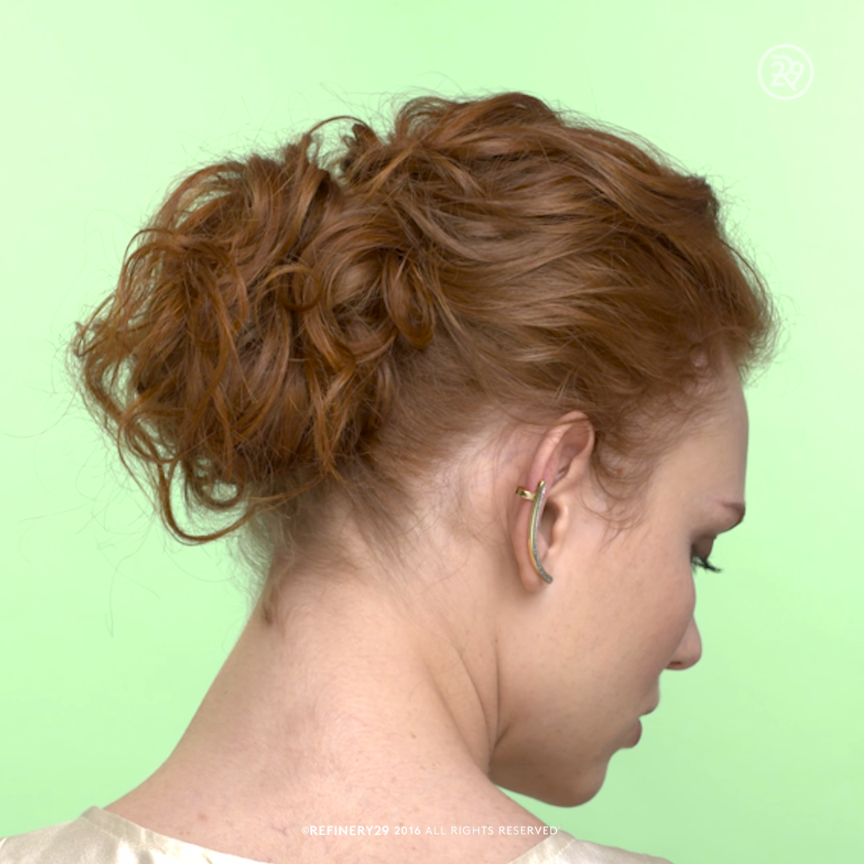 An Easy Glam Updo For Loose Curls Video Curly Hair