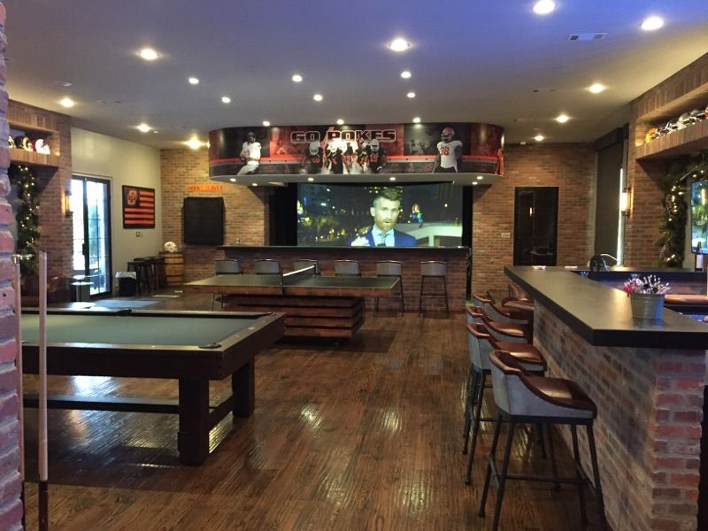 Osu Man Cave Bar Home Bar Sports Bar Man Room Oklahoma State