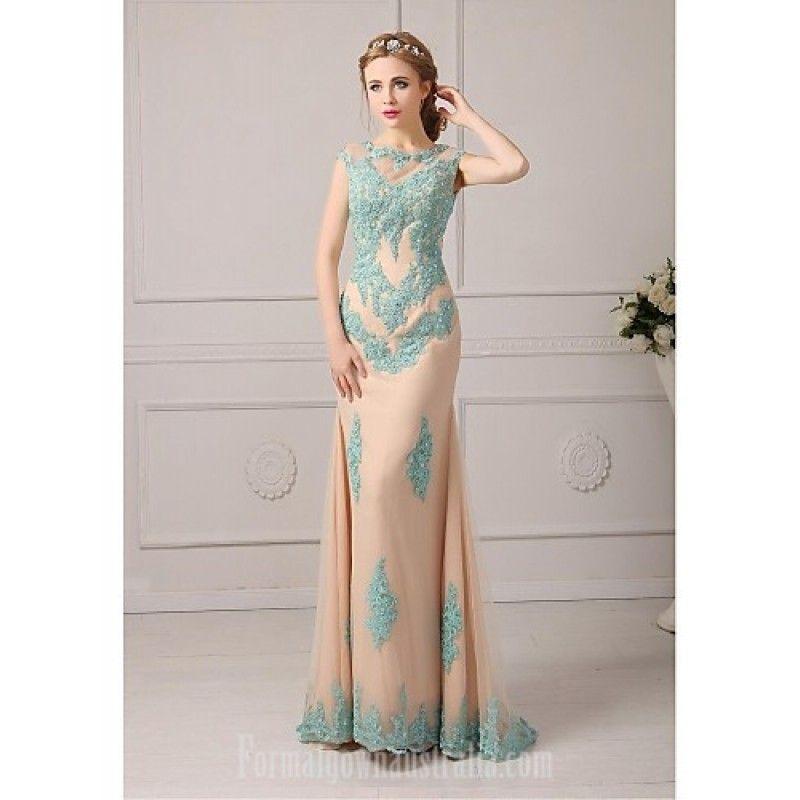 64bf7fc4231 Australia Formal Evening Dress Clover Plus Sizes Dresses Petite A-line  Jewel Long Floor-