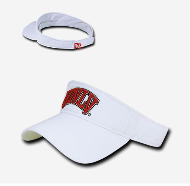 buy online 6f9ca 81f04 UNLV Runnin Rebels Nevada Las Vegas College NCAA Golf Tennis Sun Visor Cap  Hat  WRepublic