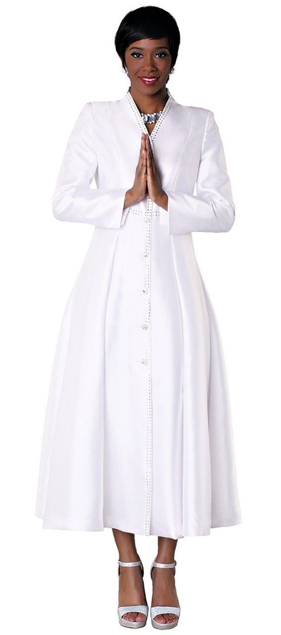 05. Ladies 1 Piece Preaching Dress In White in 2019