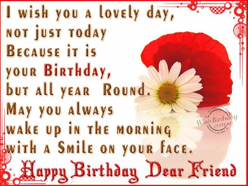 Awe Inspiring Happy Birthday My Friend Com Happy Birthday Dear Friend Funny Birthday Cards Online Fluifree Goldxyz