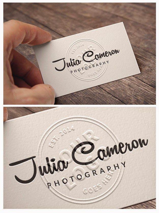 Embossed business card mockup free psd mockups pinterest embossed business card mockup reheart Choice Image