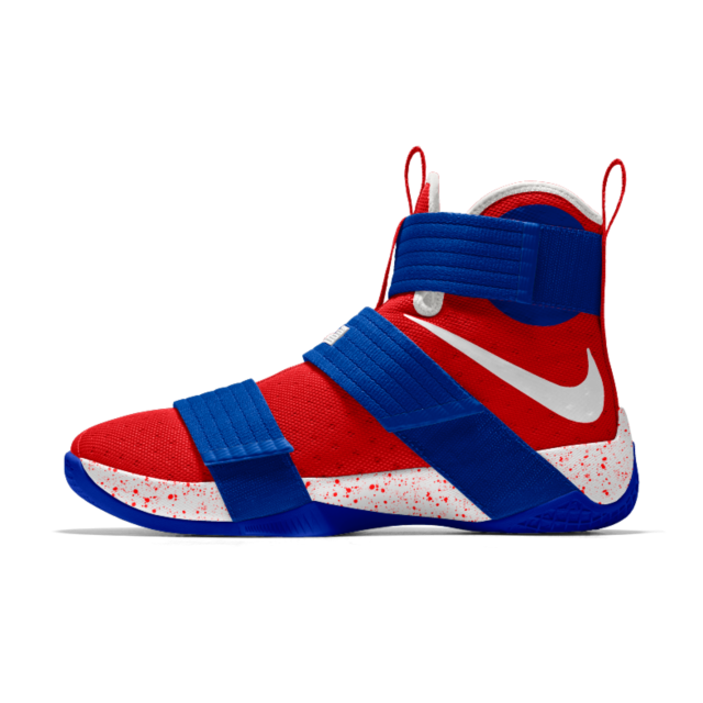 designer fashion 7331b bcd13 Nike Zoom LeBron Soldier 10 iD Men s Basketball Shoe