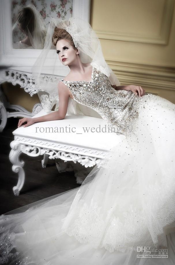 CRYSTALS Wholesale 2013 Vintage Crystals Mermaid Wedding Dresses ...