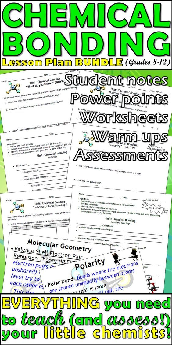 Lesson Plan Bundle Ionic And Covalent Bonding Distance Learning Covalent Bonding Teaching Chemistry Chemistry Worksheets