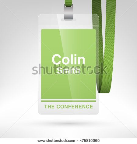 Conference Badge With Name Tag Placeholder Blank Badge Template In - Conference name badges template