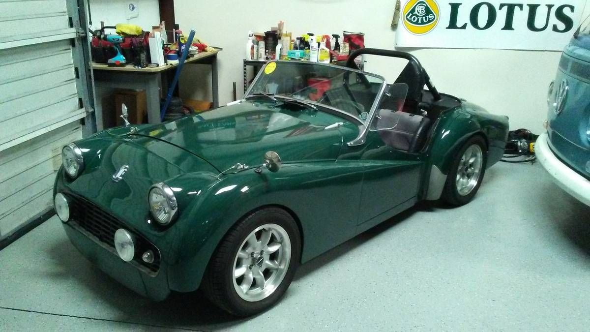 1959 Triumph TR3. Race history from 70's with SCCA logbook