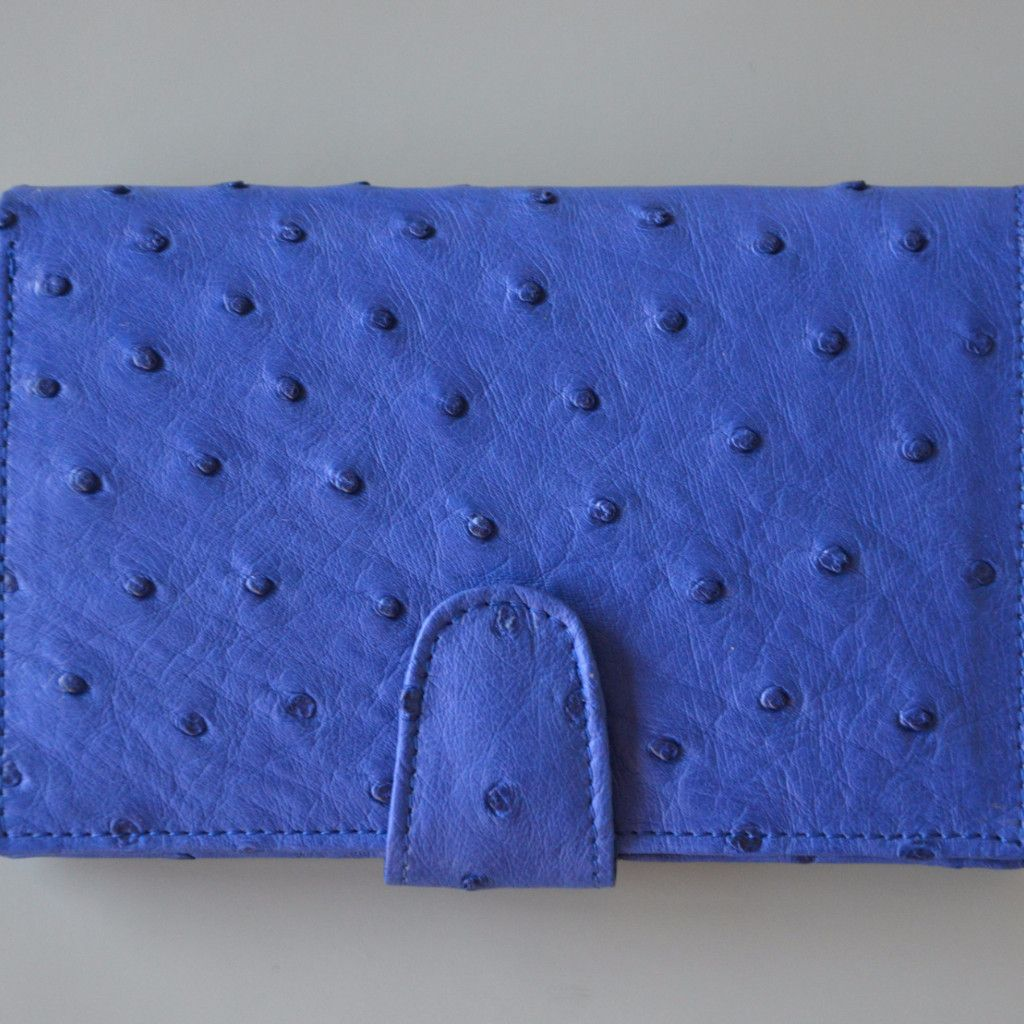 Ostrich Leather. Ostrix Ladies Purse With Tab | GoodiesHub.com
