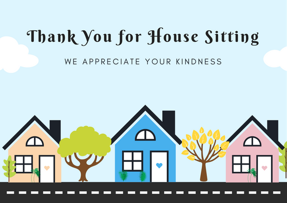 Image result for thank you card for house sitting