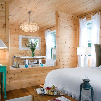 Bedroom Knotty Pine Ceiling Design