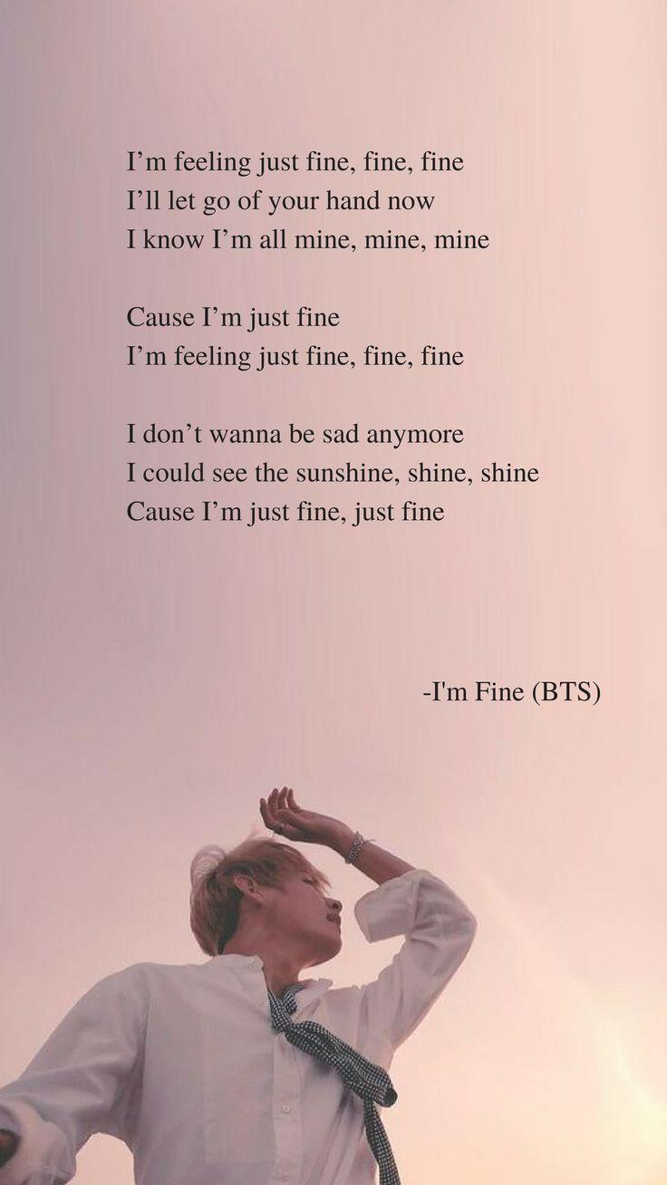 I'm Fine by BTS Lyrics wallpaper - #BTS #fine #I39m #lyrics #wallpaper