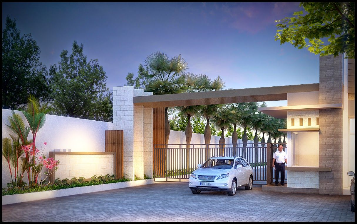 Front view luxury tropical house design 27 east sussex lane by ong - Pagar Minimalis 2015 Google Pinterest Grills Gates And Doors