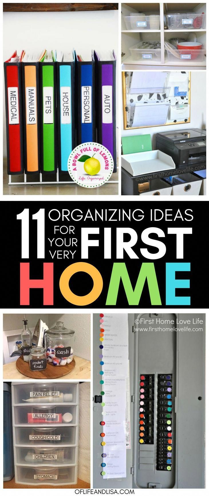 11 of the BEST Organizing Ideas for Your First Home #summerhomeorganization