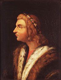 Mattia Corvino ( 1443-1490 ), eletto re di Ungheria nel 1458, valoroso condottiero, ma anche bibliofilo ed interlocutore gradito a Lorenzo il Magnifico. Fece dell'Ungheria un potente stato, dove, con la seconda moglie Beatrice d'Aragona, introdusse la cultura rinascimentale italiana.