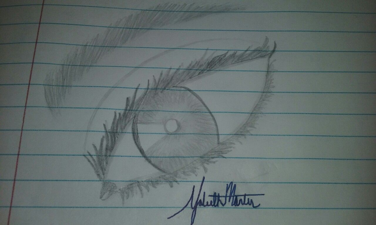 My realistic eye drawing make me want to stare at it for hours.
