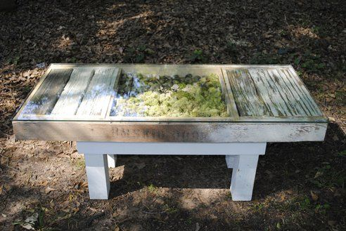 Neat Coffee Table Uses Reclaimed Wood And Has Bulit In Garden
