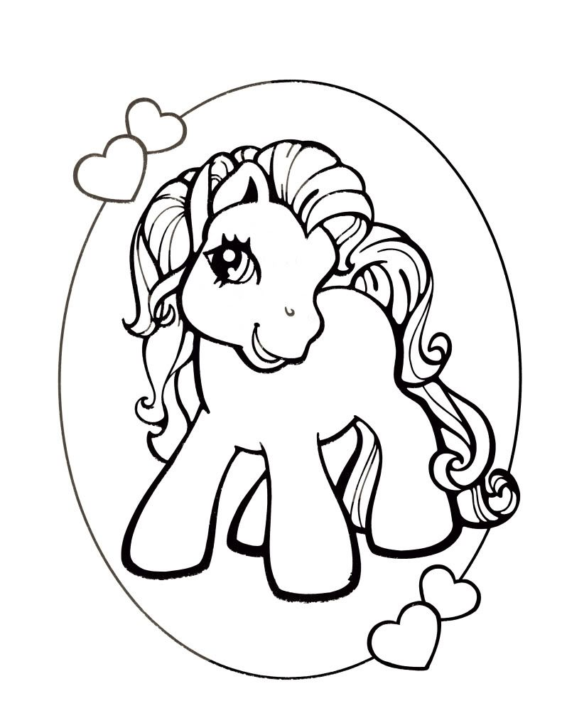 Mon petit poney my little pony creatief pinterest - Coloriage poney ...