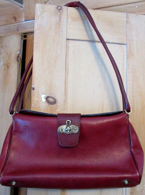 Vintage Leather Purse Shoulder Bag Etienne Aigner Oxblood Burgundy ... 4ac2c4e77ec75