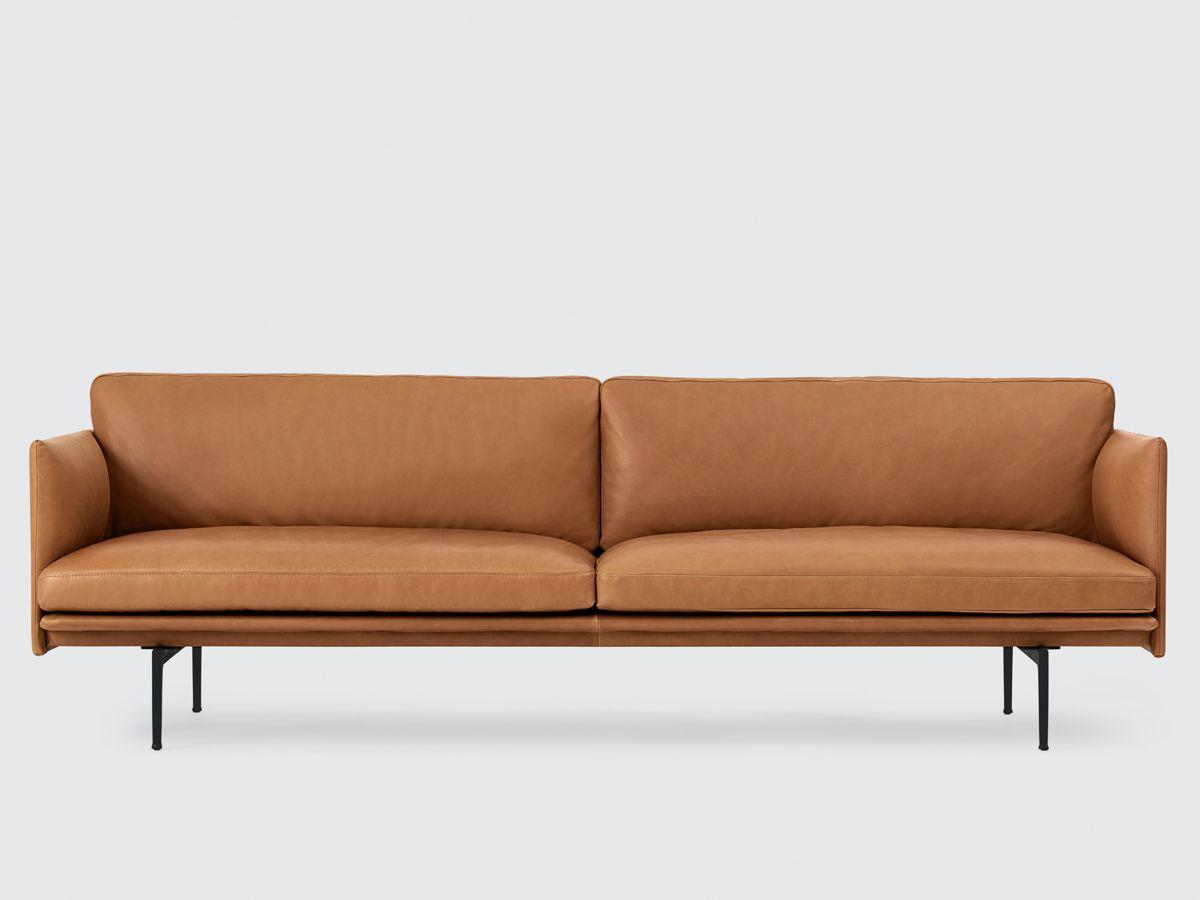 Muuto Outline Three Seater Sofa Leather Sofa Sofa Design Und Mobel Sofa
