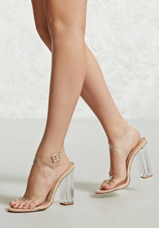 eb1b09aa3bf Clear Lucite Sandals from Forever 21 inspired by the Yeezy by Kanye ...