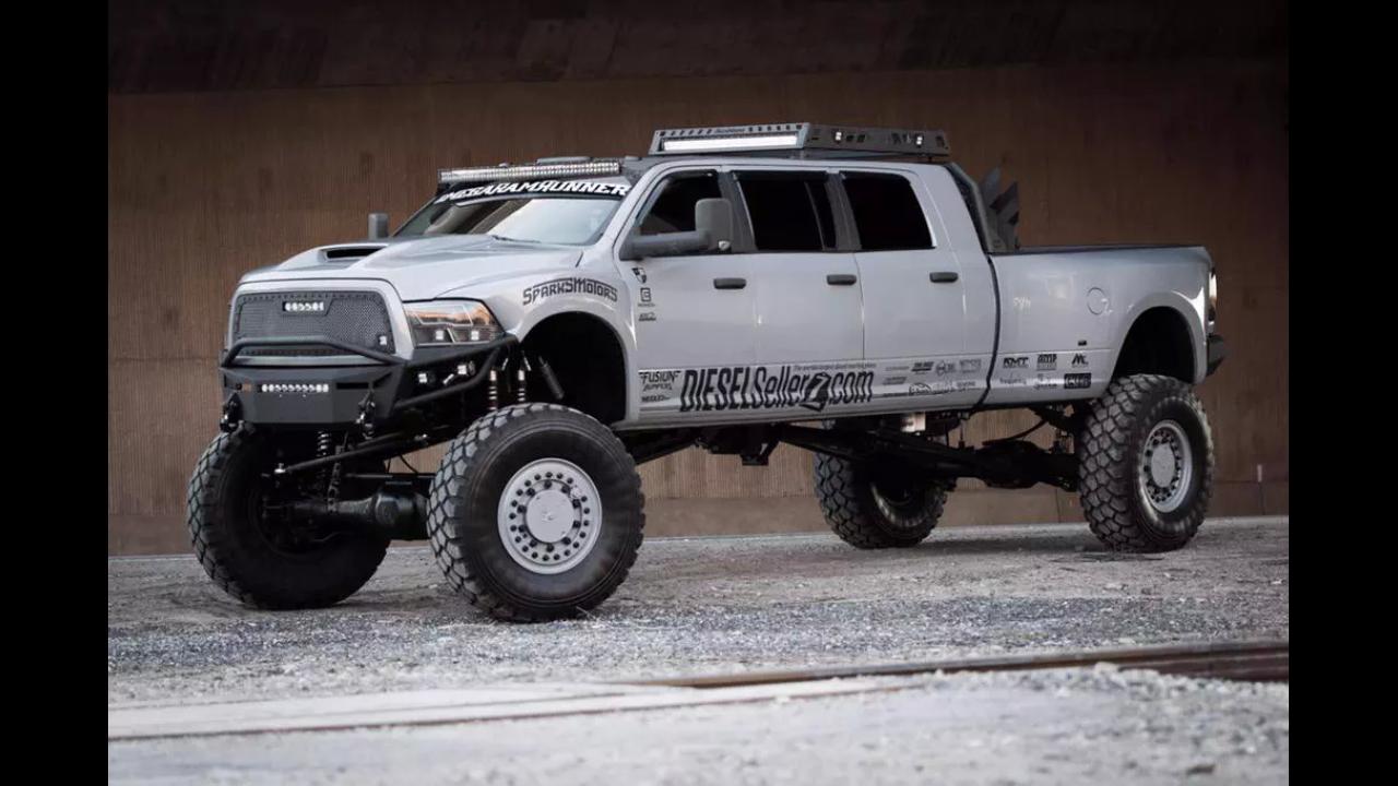 Mega Ram Runner By Dieselsellerz Com Trucks Hummer Truck Dodge