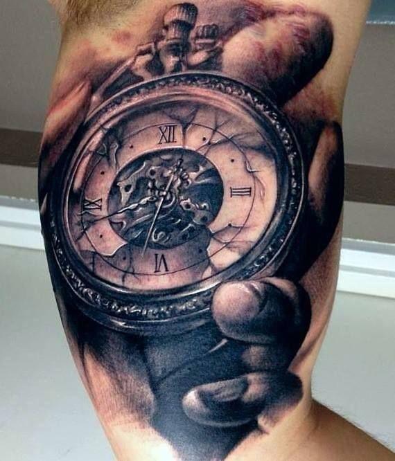carl grace clock tattoo uhrwerk pinterest tatouage montre gousset tatouage montre et. Black Bedroom Furniture Sets. Home Design Ideas