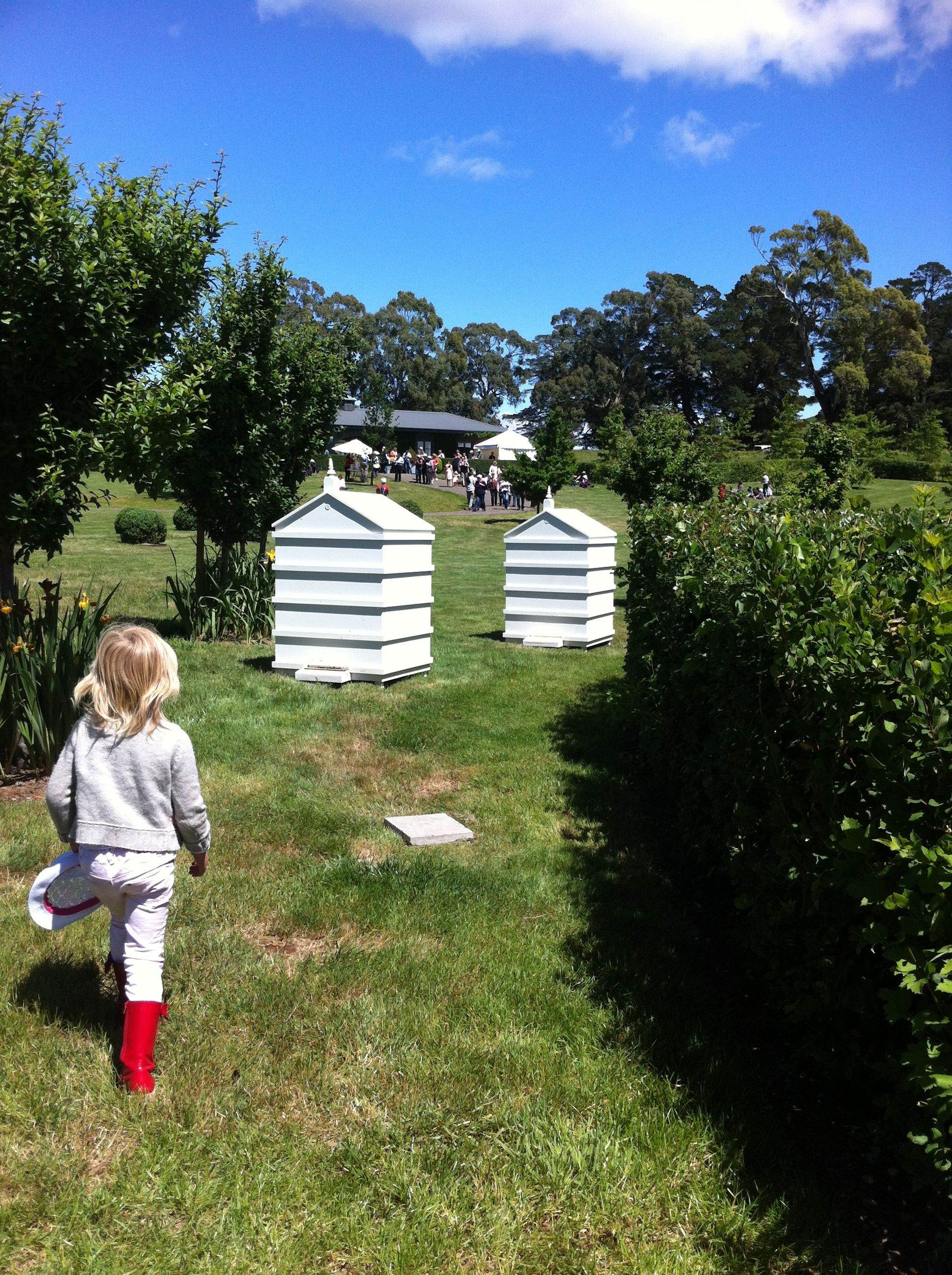 Bee hives at Paul Bangay gardens. These hives are more aesthetically ...