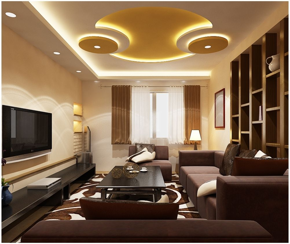 Excellent photo of ceiling pop design for living room 30 for Latest decoration of living room