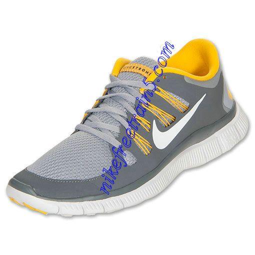 premium selection c80fa ff3c1 Buy The Cheap Nike Free 5.0 Mens Wolf Grey White Cool Grey Varsity Maize  579745 007