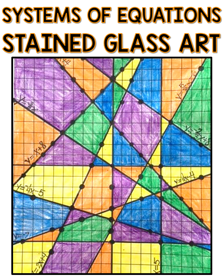 Stained Glass Slope Graphing Linear Equations Worksheet Answer Key : stained, glass, slope, graphing, linear, equations, worksheet, answer, Students, Practicing, Systems, Equations, Graphing, Solve, System, Graphing…, Equations,, Activities,