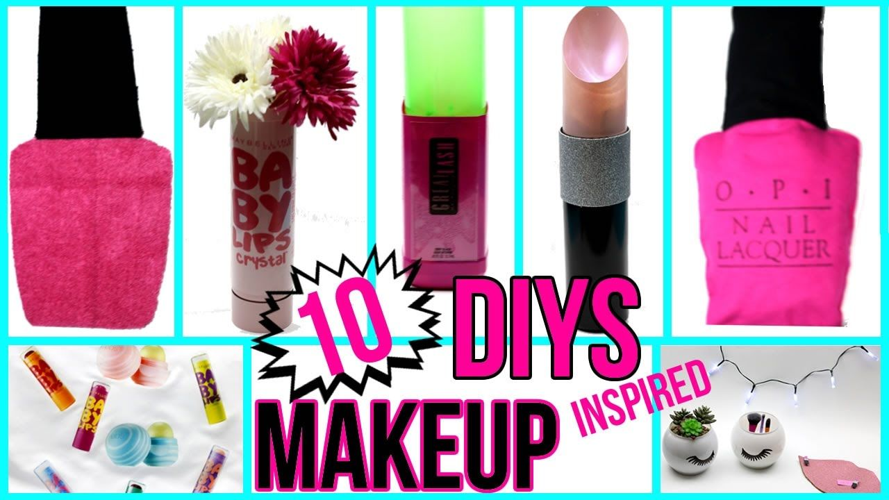 Today I Will Show You How To Make 10 Diy Makeup Inspired Room Decor Organization Ideas That You Need To Try L Diy School Supplies Diy Lipstick School Diy