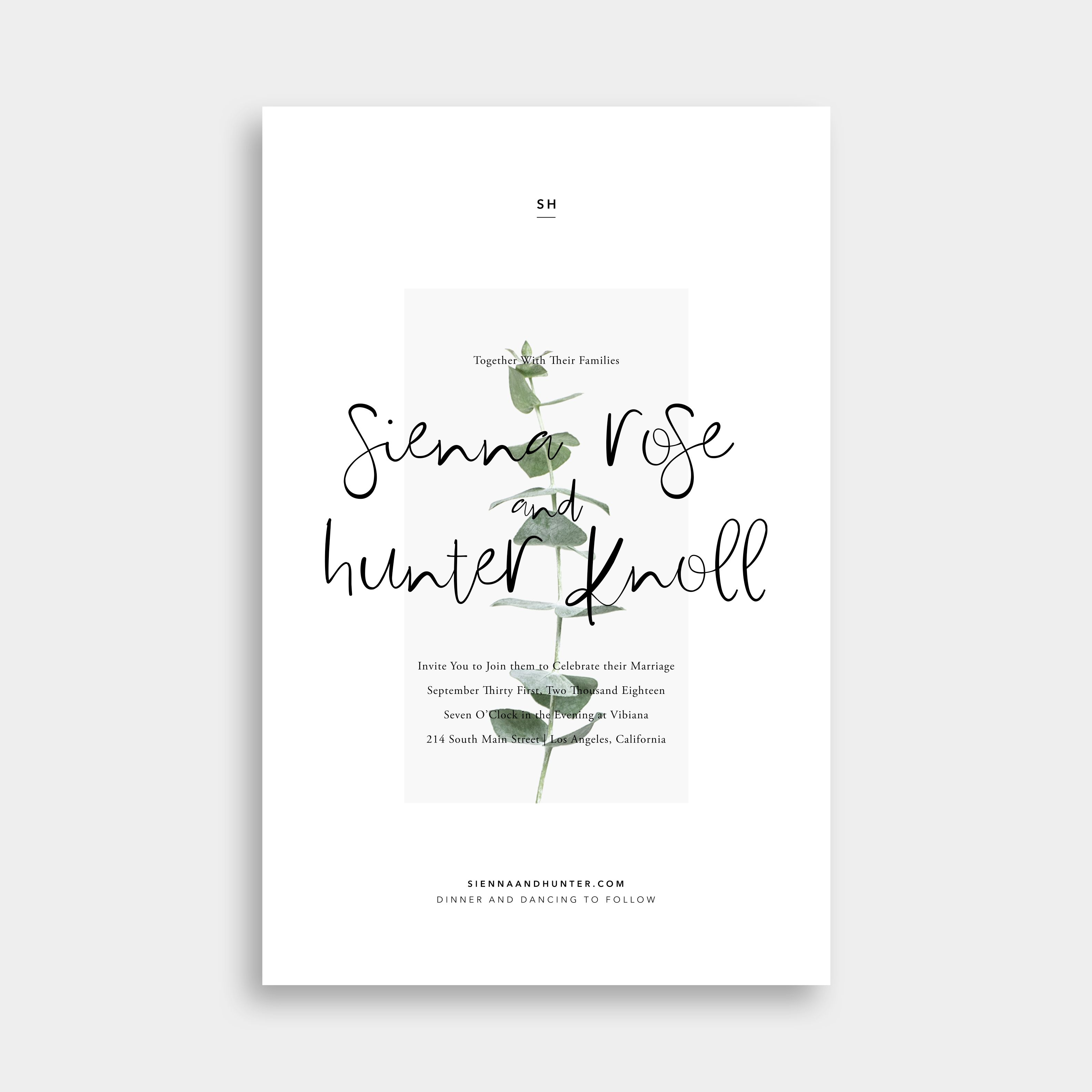 Modern Botanical Wedding Invitations + Save the Dates / Design Your ...