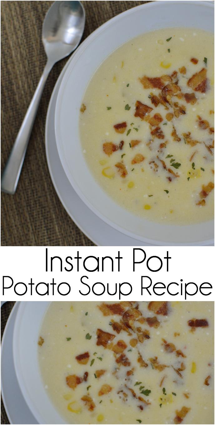 Making potato soup in an instant pot