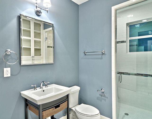 The Best Benjamin Moore Paint Colors Van Courtland Blue Hc 145 Blue Bathroom Paint Bathroom Paint Colors Blue Bathroom Colors Blue