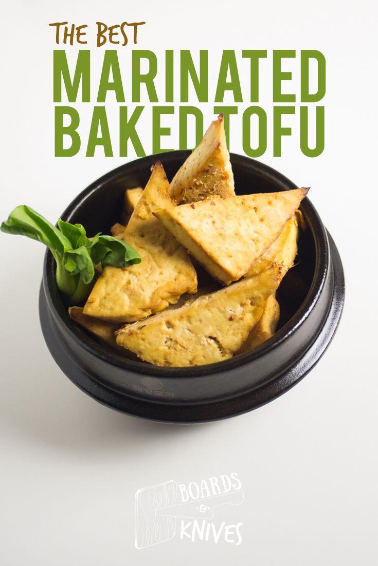 marinated baked tofu Recipes using