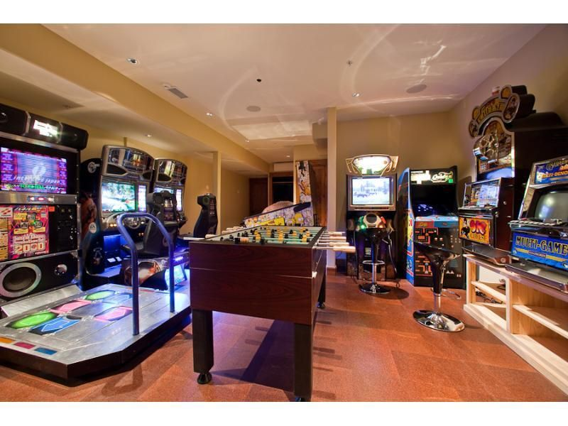 mansions home movie theatre game room bowling alley ...