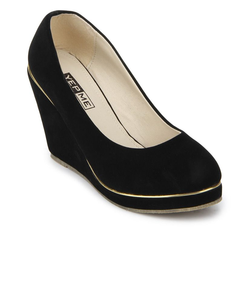 Yepme Black Wedges #shoes #cute