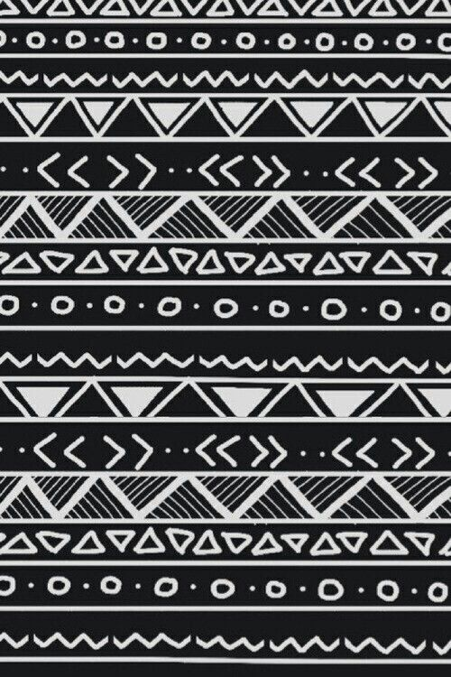 Aztec Print Black And White