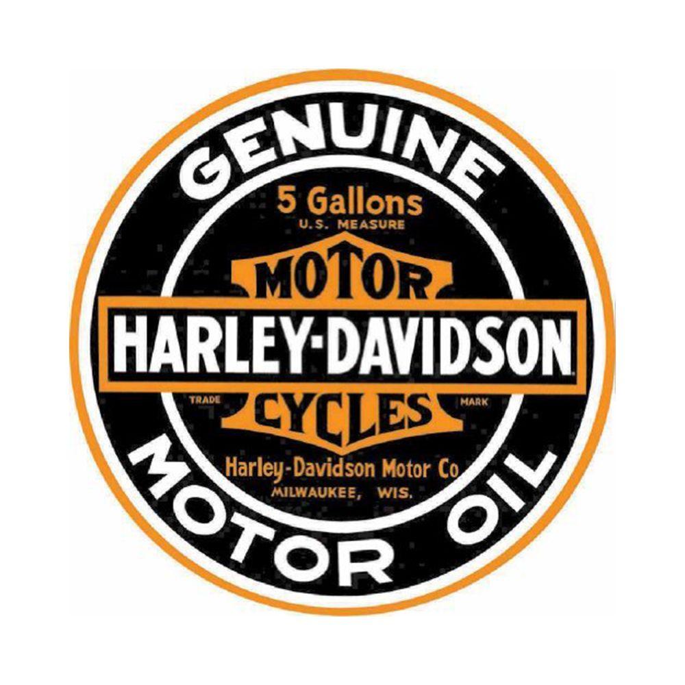 Harley Davidson Genuine Motor Oil Tin Sign Harley