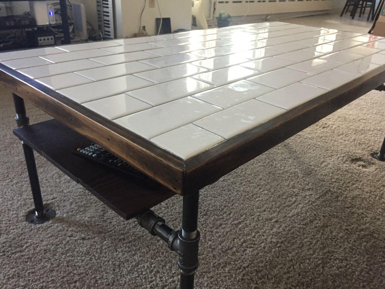 Industrial Subway Tile Coffee Table By Customindustrialshop On Etsy Https Www Etsy Com List Industrial Livingroom Tiled Coffee Table Industrial Interior Loft [ 1125 x 1500 Pixel ]