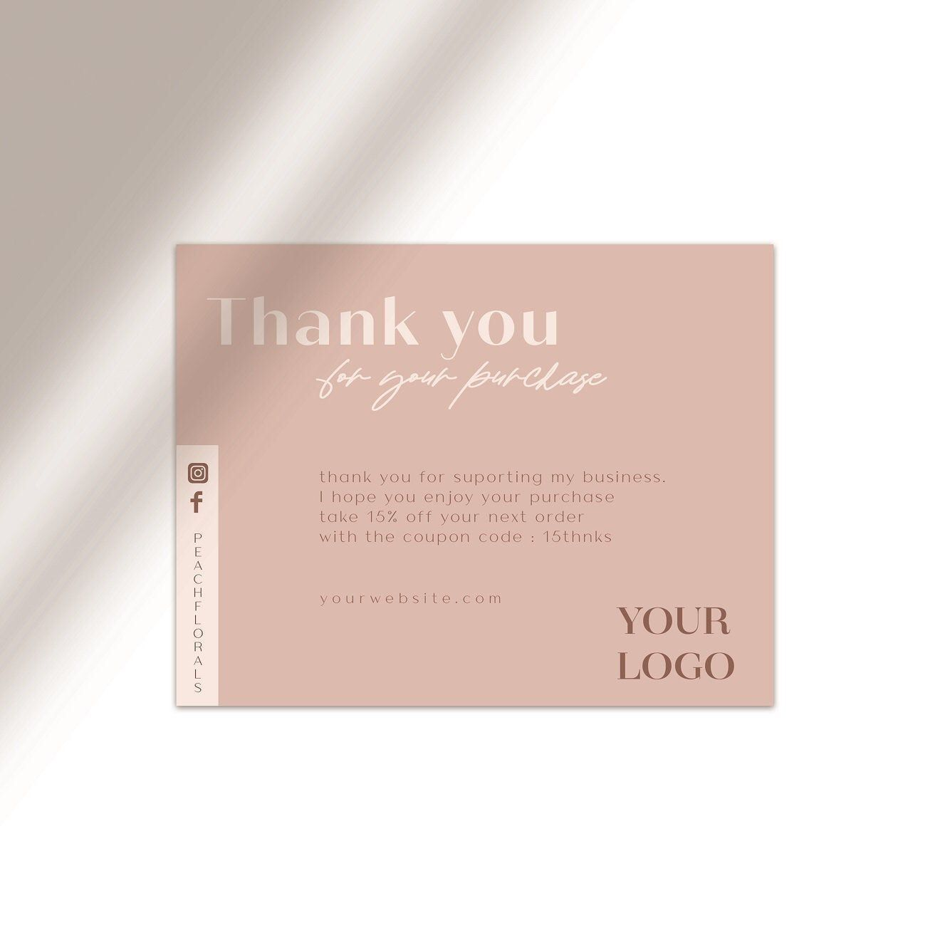 Thank You Thank You Card Business Thank You Card Template Etsy Businessthankyoucards Small Business Cards Packaging Ideas Business Thank You Card Template