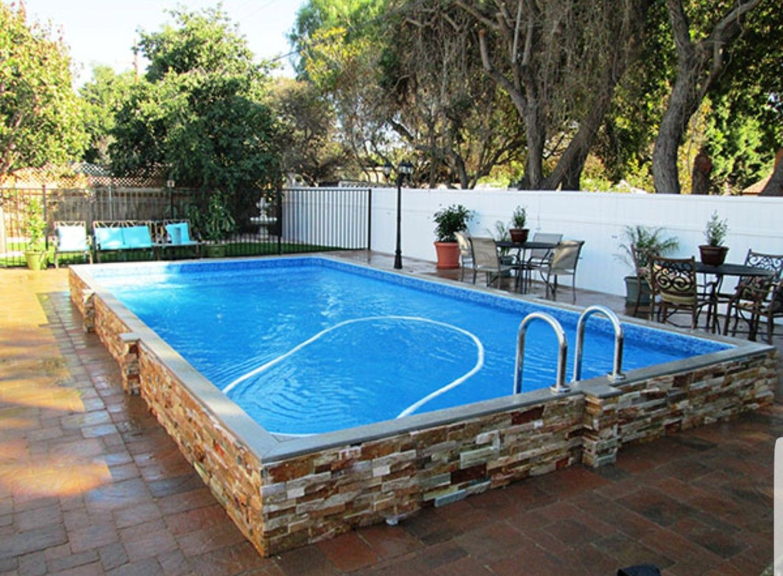 Pin de debbie heron en pools pinterest piscinas for Paisajismo para piscinas