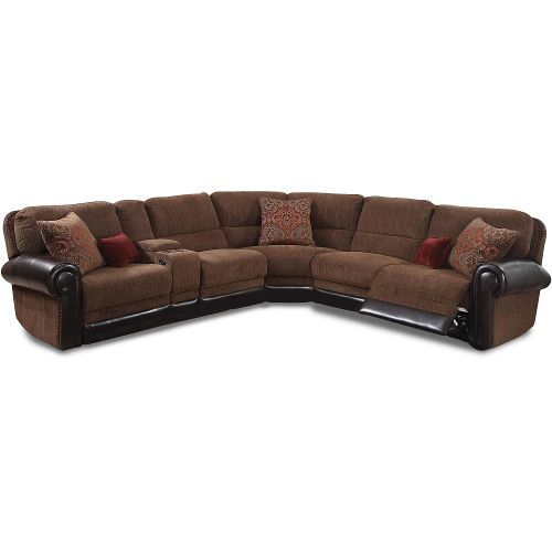 Auburn Brown 4 Piece Power Reclining Sectional Sofa