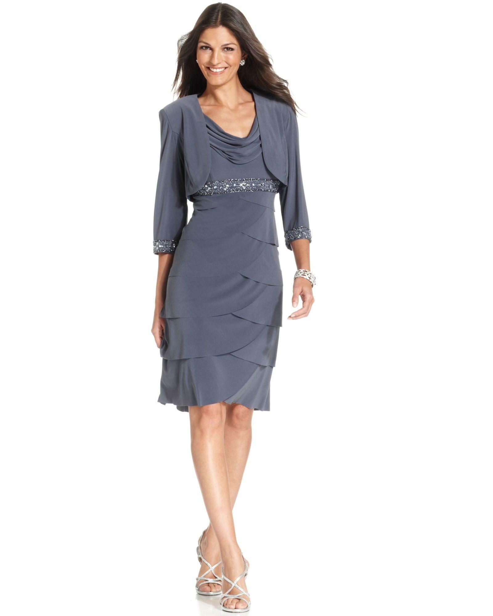 Beaded Cowl Neck Dress