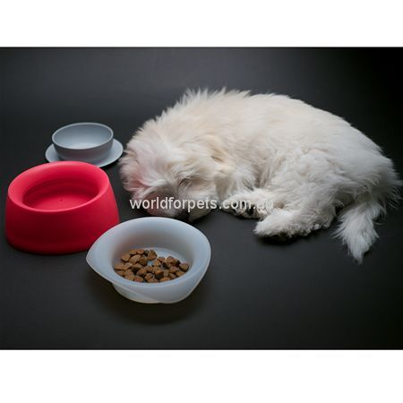 Rspca World For Pets Yummy Travel Bowl Very Berry Travel Bowl Pet Warehouse Online Pet Supplies